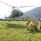 Übung mit Helikopter