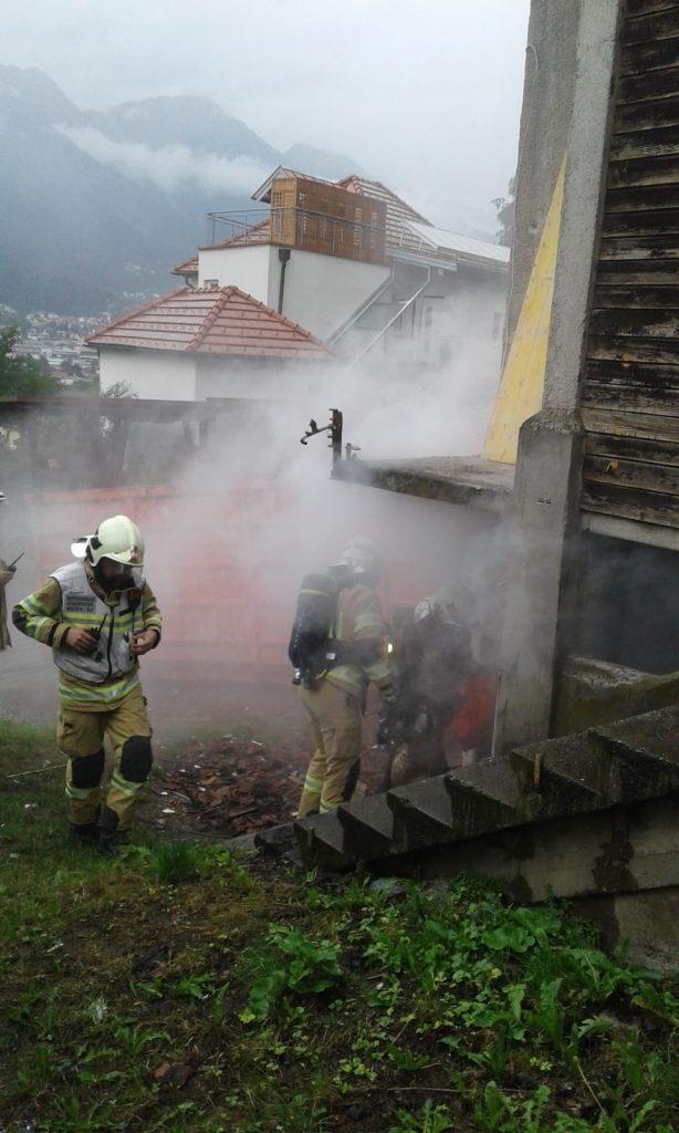 Abschlussübung im Sommer 2019 Brand im Keller eine Gebäudes